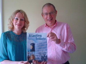 Julie & Mike with book Lasting Tribute